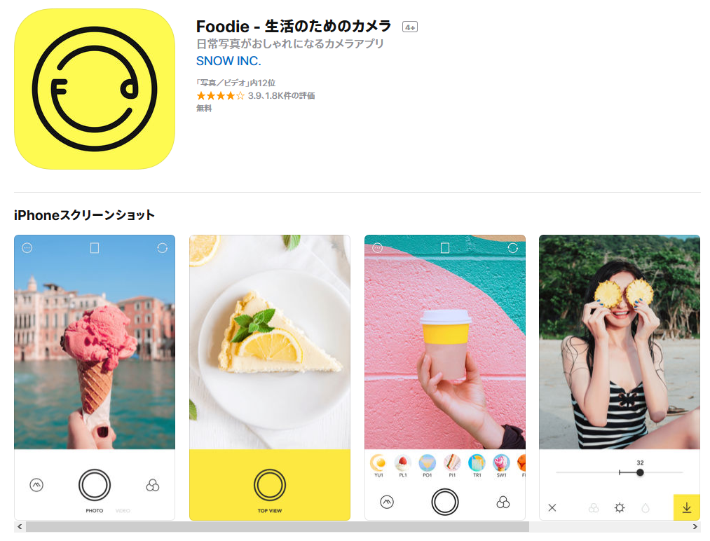 Foodie生活のためのカメラ