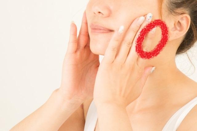 顎のマッサージ